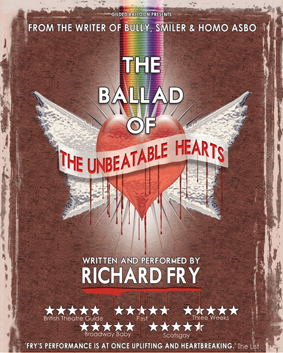 Richard Fry in THE BALLAD OF THE UNBEATABLE HEARTS (image: Steve Ullathorne)